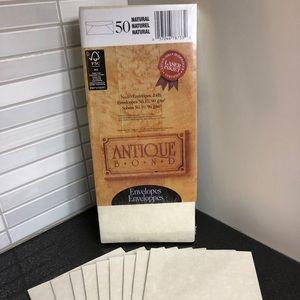 🧡3/$12 First Base Antique Bond Natural envelopes